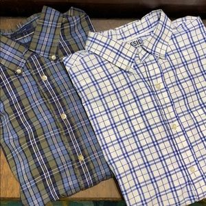 LOT 2 Old Navy & Saddlebred LS Button-down shirts